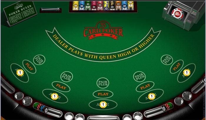 Free online casino three card poker