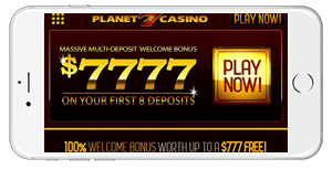 Planet 7 Casino on Mobile